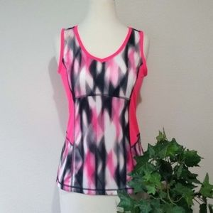 Tek Gear Pink Black Activewear Multi Color Tank